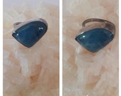 Reserved Free form Aquamarine Ring-aquamarine ring, birthstone jewelry, handmade ring, sterling silver, free form cabochon, blue stone