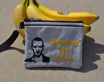 9th Doctor Who Wallet Wristlet Banana