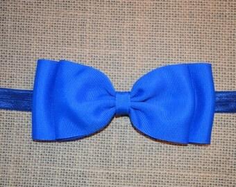 Royal Blue Bow Headband/ Blue Baby Headband/ Blue Bow Headband/ Baby Hair Accessories/ Baby Girl Hair Accessories/ baby headbands and bows