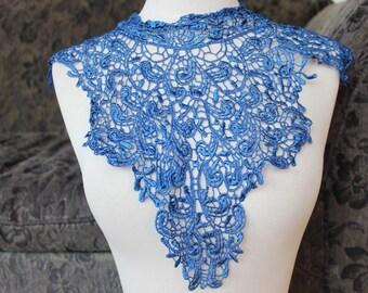 Cute venice applique blue  color  1 pieces listing