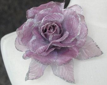 Cute organza  flower   pin 1 piece listing