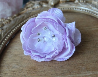 Cute   velvet beaded flower