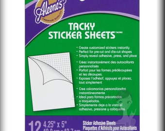 Aleene's Tacky Sticker Sheets Die-Cut Adhesive Scrapbooking/Crafts SBC