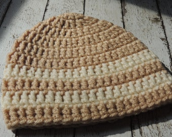 Clearance Boys Crochet  Beanie Size 0-3 Months/ Ready To Ship REDUCED