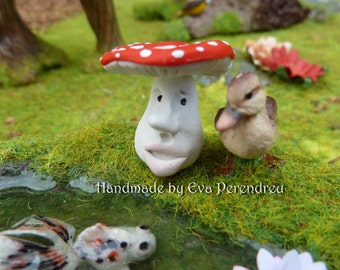 Miniature Faced toadstool for a Fairy Garden