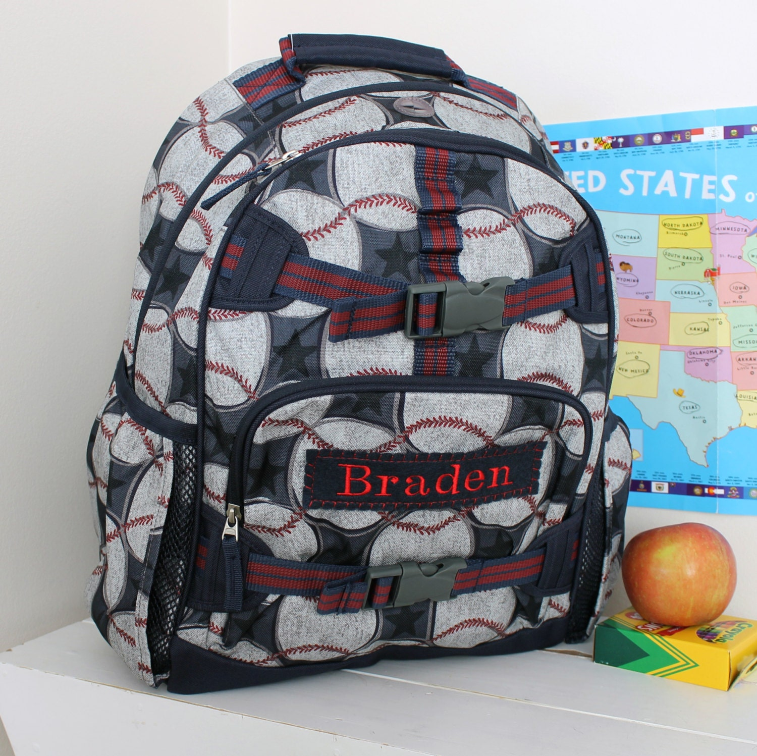 Large Backpack With Monogram Large Size Pottery Barn