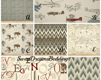 Custom Crib Bedding You Design   Bumper and Bedskirt in Pewter and Natural