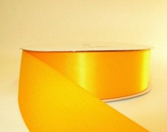 Yellow Ribbon double faced satin ribbon 1.5 inches, Wedding, Special Occasion, Crafts, DIY bridal 1 yard