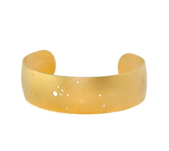 Taurus Gold Flash Constellation Cuff Bracelet