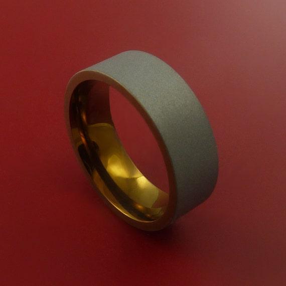 Titanium and Bronze Band Custom Made Ring to Any Sizing and Finish 3-22