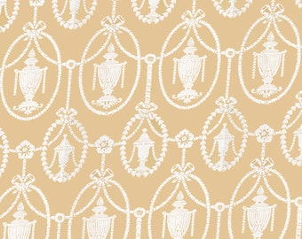 Dolls House   Wallpaper 1/12th or 1/24th scale Quality Paper Beige Vintagel #234