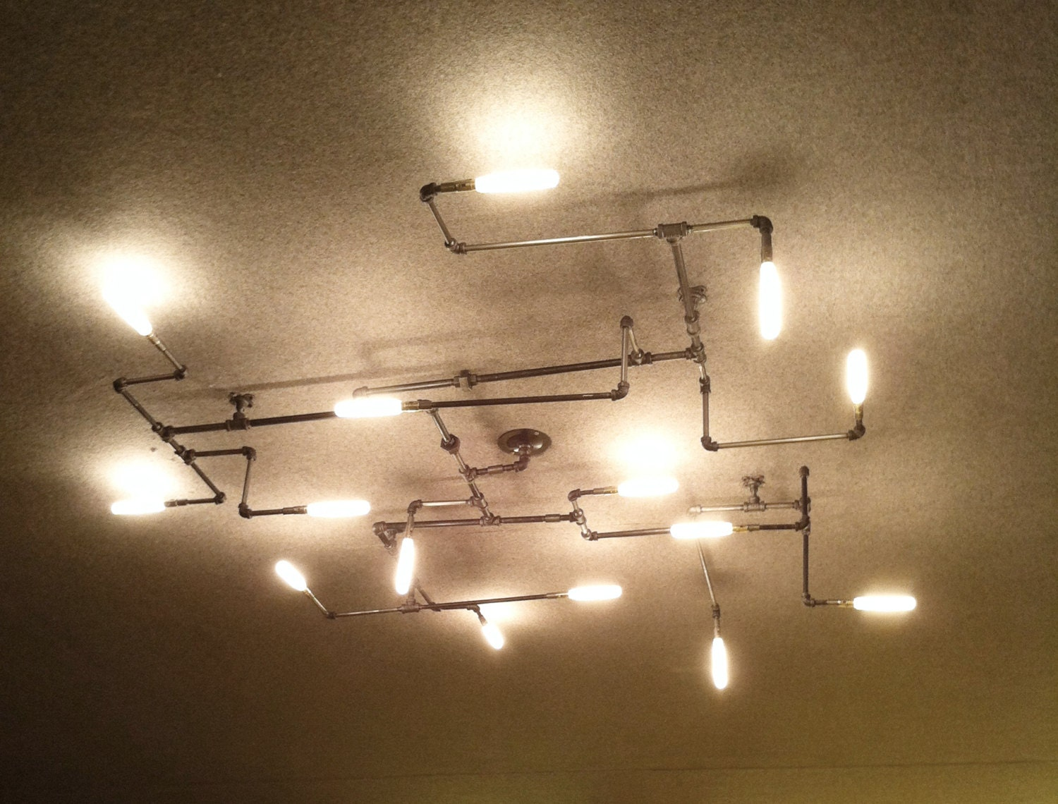 The maze pipe light chandelier 1 0 for Pipe ceiling lighting