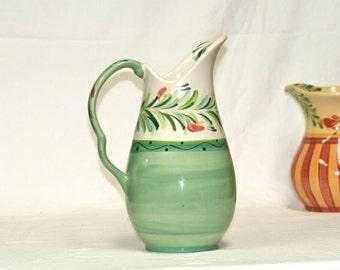 Gail Pittman Pitcher vintage green
