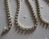Rhinestone Chain White Opal Czech Crystal 2mm 14PP in Brass Setting - Qty 36 inch strand