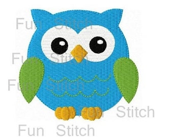 Instant download   cute owl machine embroidery design