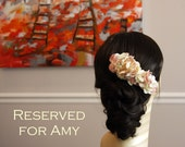 RESERVED FOR AMY Blush Foral Hair Accessory - The Arianna