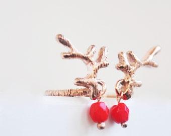new year spirit deer ring-free shipping