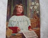 Vintage Easter Victorian Choir Boy Postcard Unused