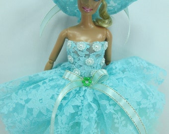 Outfit Fun Costume Fancy Dress and hat Fairytopia Ballerina Fairy Angel for Barbie doll # FA-26