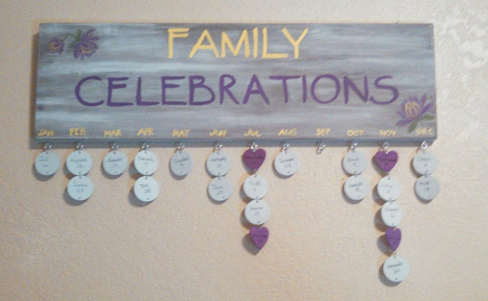 Family Celebrations Sign Family Celebrations Board