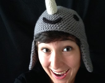 Crochet Narwhal Hat