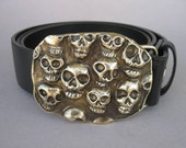 Skulls Forged Bronze Belt Buckle