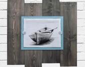 BIG BIG Plank Frame for 11x14 Driftwood Finish Beach Industrial