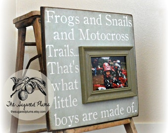 Motorcross, Motorcross Baby, Motorcross Birthday, Motorcross Decor, Baby Gift, Baby Boy, Baby Girl, Baby Frame, 16x16 The Sugared Plums