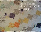 Falling Blocks Quilt Pattern Tutorial, Easy to Make, Uses Charm Packs