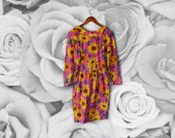 SALE!!!!  Vintage  Adrienne Vittadini sunflower Dress