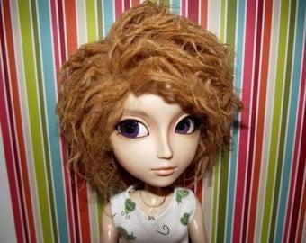 Dirty blonde hobo hippie faux fur wig hair for Pullip Taeyang