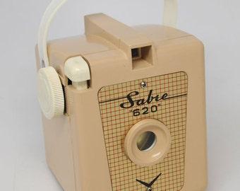 VINTAGE CAMERA, TAN Sabre 620, Working Vintage Camera