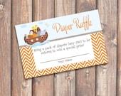 Noah's Ark Baby Shower Diaper Raffle Tickets - INSTANT DOWNLOAD