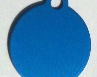 Small Circle - Pet Tag - Engraved - 2 Sided