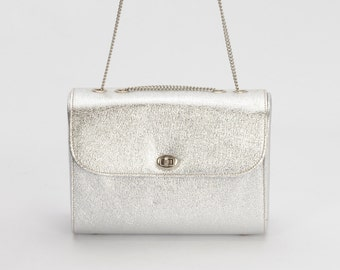 Silver Box Purse with Coin Purse Attached