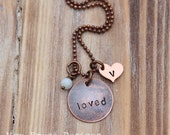 Optional matching daughter necklace to the 2014 Mothers Day necklace - loved, with initial or blank heart