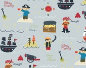Treasure Map Main Gray by Lesley Grainger for Riley Blake, 1/2 yard
