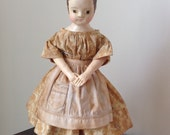 """The Little Hamptons dress and apron PDF pattern to fit 16 -17"""" Izannah Walker  reproduction or style dolls"""