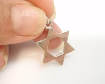 Star of David magen david  Judaica Sterling Silver 925 Pendant
