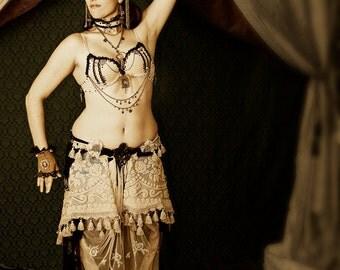 Sepia Screen Collection-Vintique Tribal Fusion Belly Dance Bra