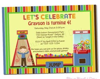 PRINTABLE Arcade Fun Party Invitation (Boy or Girl) #502