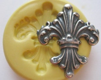 Silicone Mold Fleur de Lis Mold French Mould PMC Resin Clay Candy Fondant