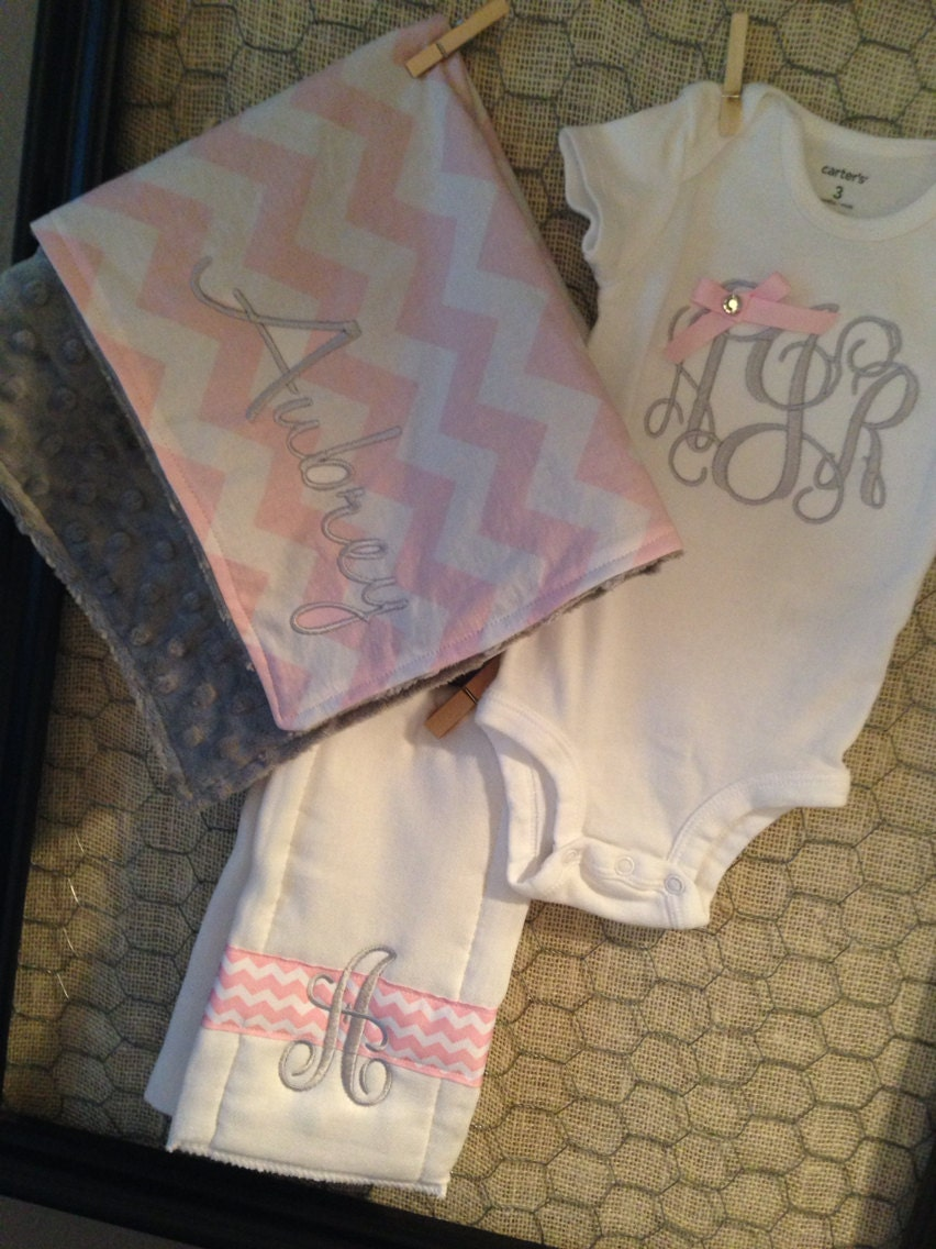 Custom Personalized Baby Gift Set