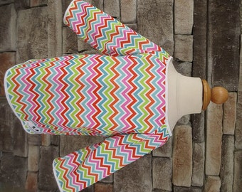 2/3 Long Sleeve Art Smock - Size 2T 3T - Rainbow Chevron - Waterproof and Long Sleeved
