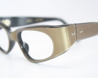 NOS Small Brown cat eye glasses vintage cateye frames eyeglasses