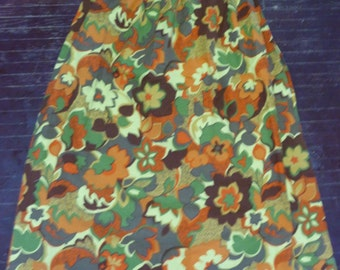 1960's Flower Power Curtains Drapes Pinch Pleated Set of 2