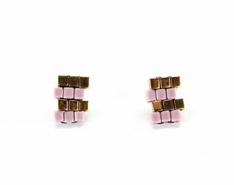 Lavender Zig Zag Earrings - in stock!