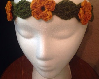 Goldenrod Yellow Floral Headband