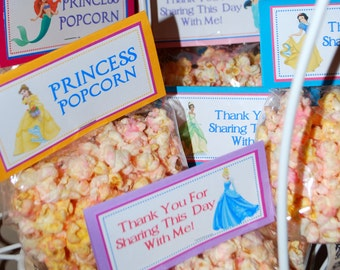 Pink Princess Popcorn - Disney Princess - Party Favors - 1 Dozen