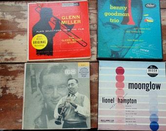 Benny GOODMAN. Lionel Hampton. GLENN MILLER. 45 rpm / ep. vintage 1950s music. records.